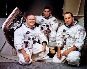"""For all the people on Earth the crew of Apollo 8 has a message we would like to send you""."