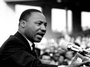 Martin Luther King giving speech