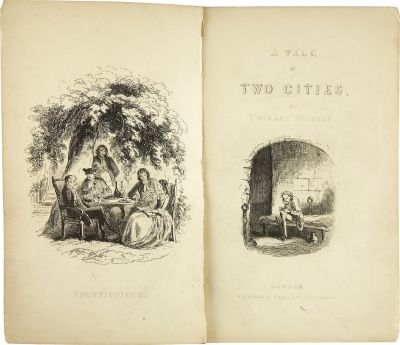 A Tale of Two Cities. With Illustrations by H. K. Browne. London: Chapman and Hall, 1859. First edition Date: 1859
