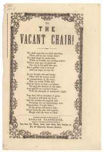 Mass Historical Society-Words to The Vacant Chair