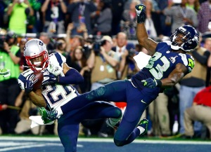 NFL: Super Bowl XLIX-New England Patriots vs Seattle Seahawks: Malcolm Butler makes the catch